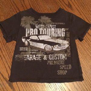 Brown Short Sleeve T-shirt Car Speed Shop 18 month